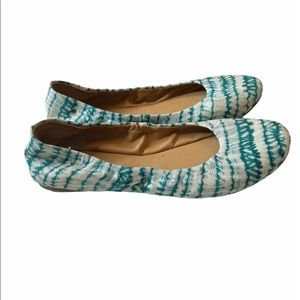 Lucky Brand Tie Dye Emmie ballet Flats shoes